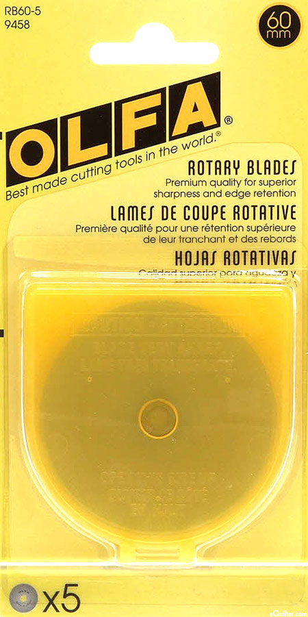 Olfa 60 mm Rotary Blades - 5 Pack
