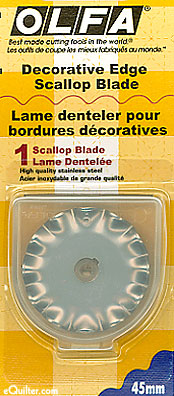 Olfa 45mm Rotary SCALLOP Blade