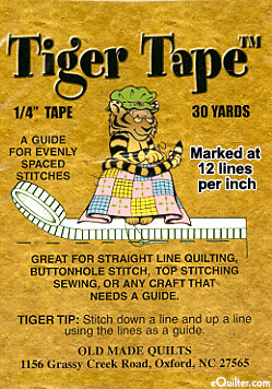 "Tiger Tape - 1/4"" Tape - 12 Lines Per Inch"