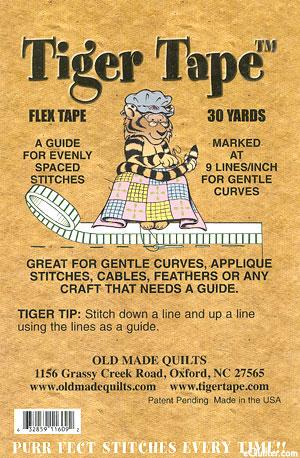"Tiger Tape - 1/16"" Flex Tape - 9 Lines Per Inch"
