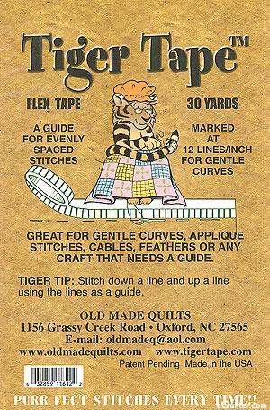 "Tiger Tape - 1/16"" Flex Tape - 12 Lines Per Inch"
