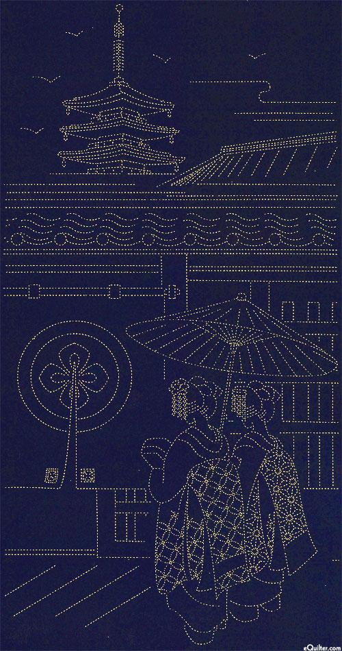 """Sashiko Panel - Gion Kyoto - 24"""" x 44"""" PANEL"""