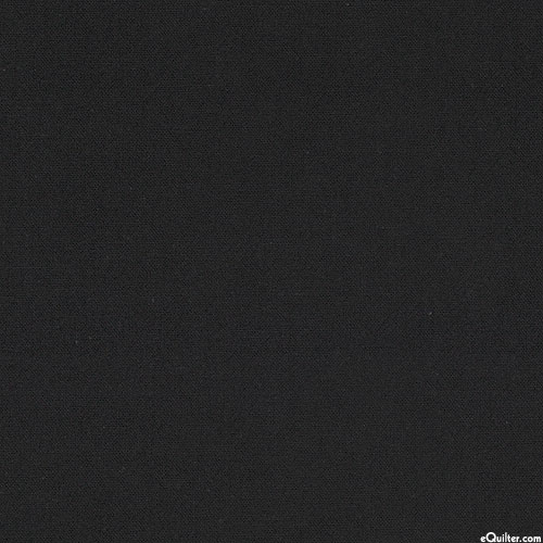 Japanese Import - Sashiko Cloth Blend - Black - COTTON/LINEN