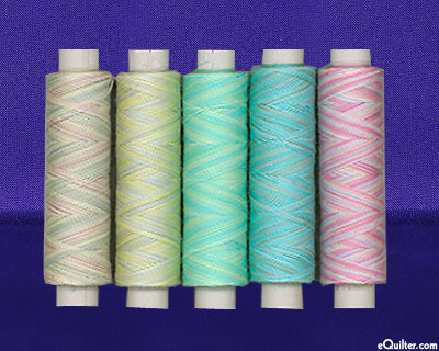 Oliver Twists - Hand-Dyed Machine Embroidery Thread Set - Pastel