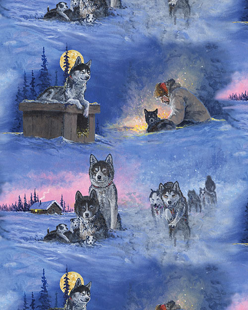 Alaska's Artist - Night on the Iditarod Trail - DIGITAL PRINT