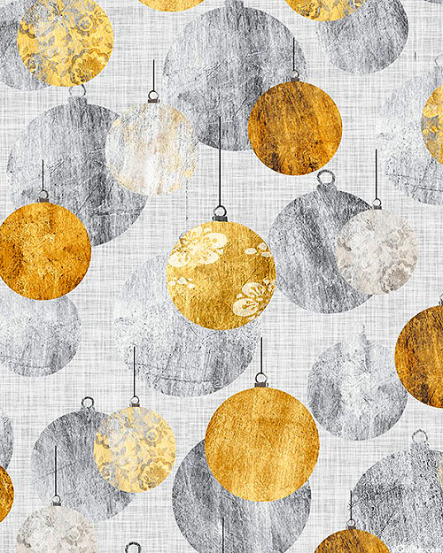 Sophisticated Christmas - Round Ornaments - Pewter Gray
