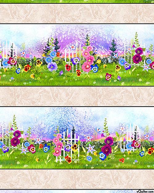Garden Delight - Blooming Columbine Stripe -Multi - DIGITAL