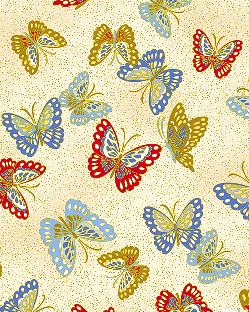 Niwa - Butterflies from Paradise - Cream/Gold
