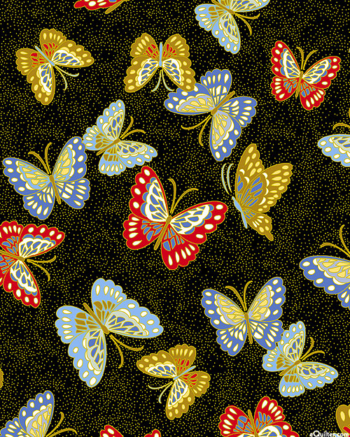Niwa - Butterflies from Paradise - Black/Gold
