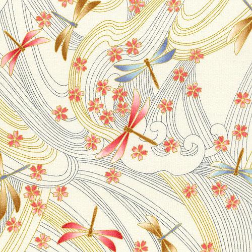 Niwa - Dragonfly Breeze - Cream/Gold