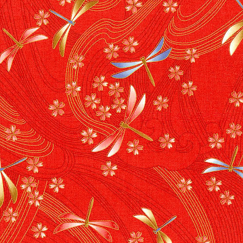 Niwa - Dragonfly Breeze - Bright Red/Gold