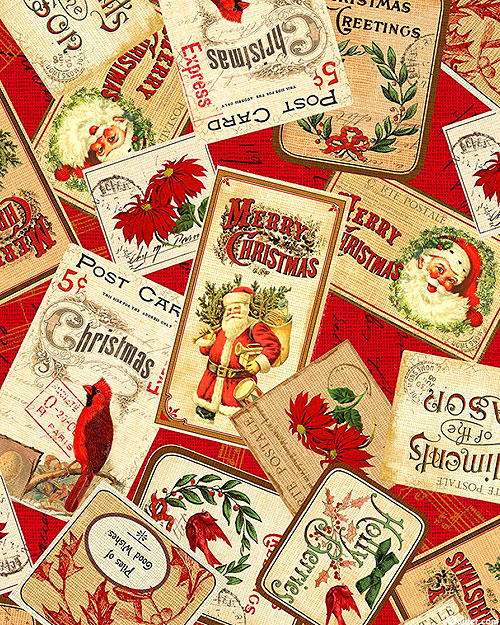 Postcard Holiday - Good Wishes - Cardinal Red