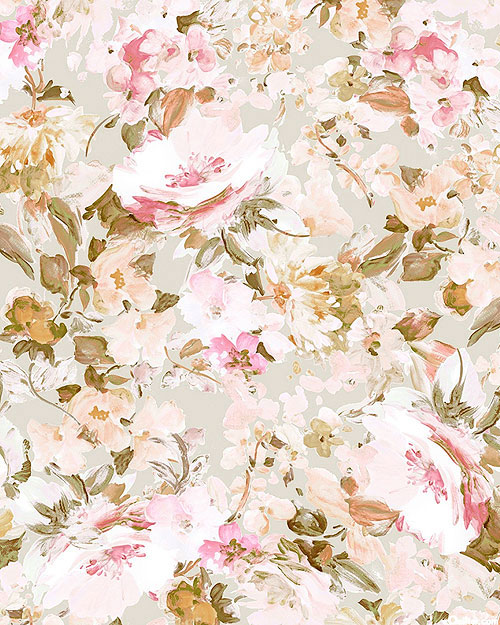 """Amelia - Beautiful Roses - Natural - 108"""" QUILT BACKING"""