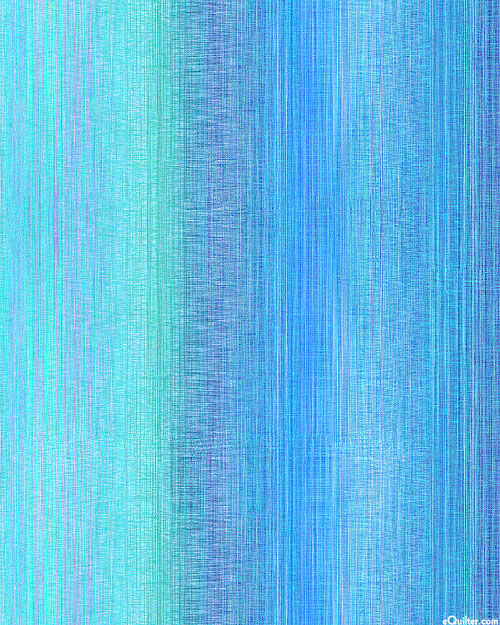 """Ombre Color Cascade - Turquoise - 108"""" QUILT BACKING"""
