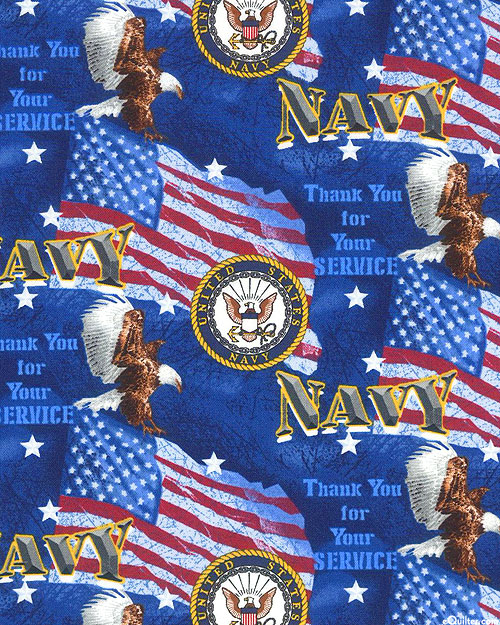 Military Prints - Navy - Royal Blue