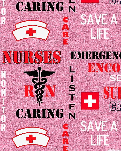 Nurses - Caring & Live Saving - Deep Pink
