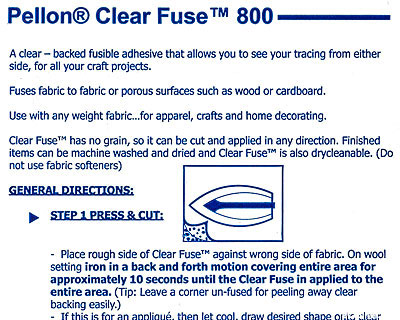 """Pellon Clear Fuse - Double-Sided Fusible Web - 20"""" Wide"""