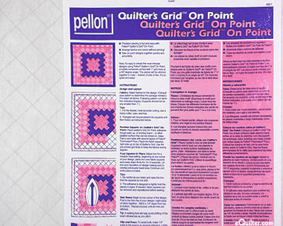 Pellon - Quilter's Grid On Point - White
