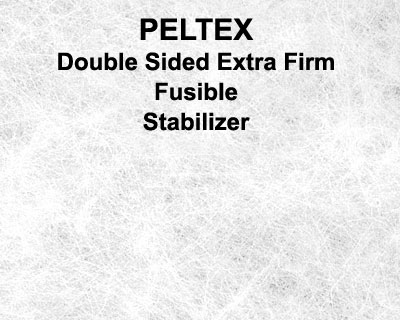 Peltex - Double Sided Fusible Ultra Firm Stabilizer - White