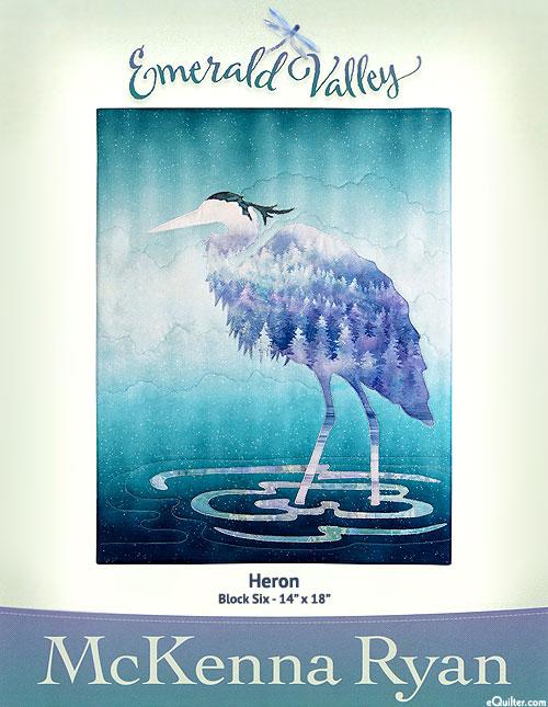 Emerald Valley - Heron - Pattern by McKenna Ryan