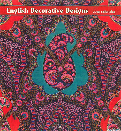 2019 Calendar - English Decorative Designs