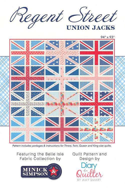 Regent Street Union Jacks - Quilt Pattern by Amy Smart