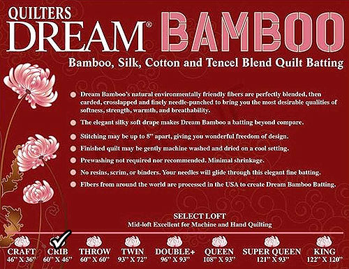 """Quilters Dream Orient - Cotton & Bamboo Blend - Crib 46"""" x 60"""""""