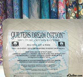 "Quilters Request Thin Batting - 100% Cotton - 46"" Wide"