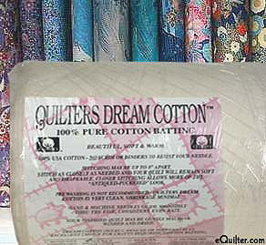 """Quilters Select Light Batting - 100% Cotton - 92"""" Wide"""