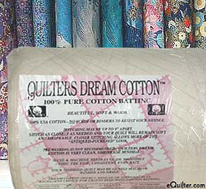 "Quilters Select Light Batting - 100% Cotton - 46"" wide"