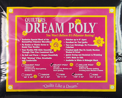 Quilters Dream Select Poly - Queen Size - BLACK