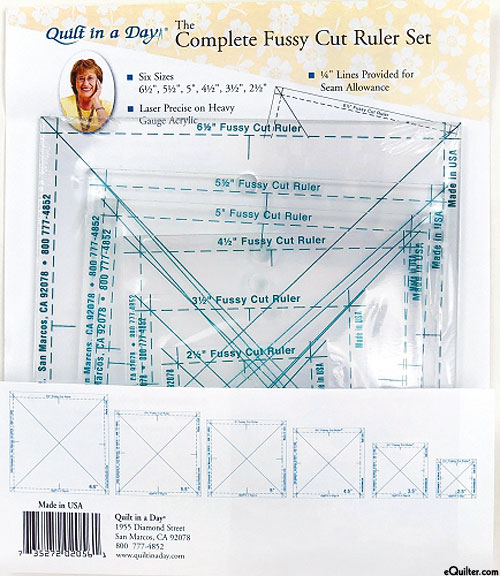 Quilt in a Day - Complete Fussy Cut Ruler Set