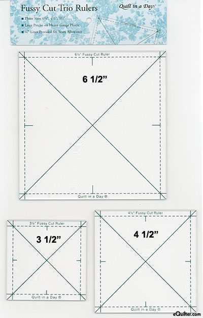 Quilt in a Day - Fussy Cut Trio Rulers