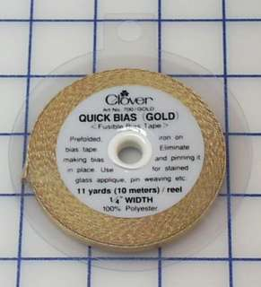 Quick Bias - Fusible Bias Tape - Metallic Gold
