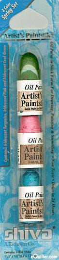 Shiva Artist's Paintstiks - 3 Iridescent Spring Colors
