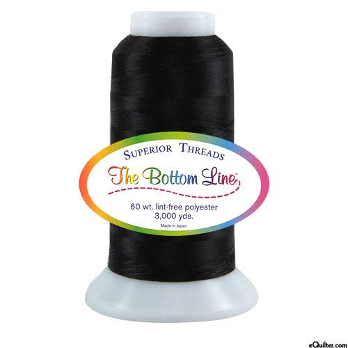 Superior Bottom Line Polyester Thread - 3000 yd - Black