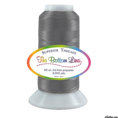 Superior Bottom Line Polyester Thread - 3000 yd - Gray