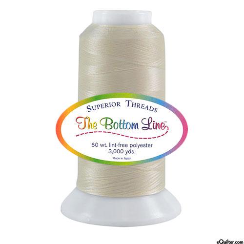 Superior Bottom Line Polyester Thread - 3000 yd - Cream