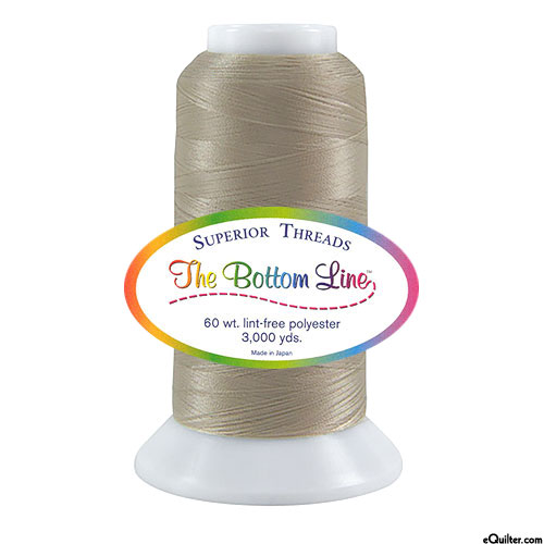 Superior Bottom Line Polyester Thread - 3000 yd - Lt Taupe