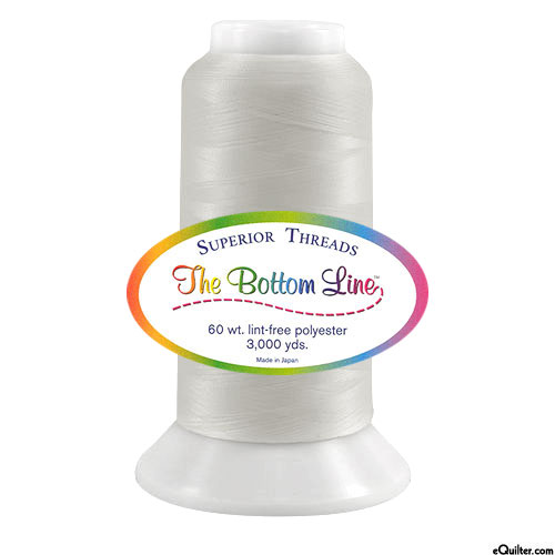 Superior Bottom Line Polyester Thread - 3000 yd - White