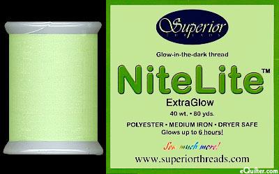 NiteLite - Glow-In-The-Dark Thread - 80 yd - Light Green