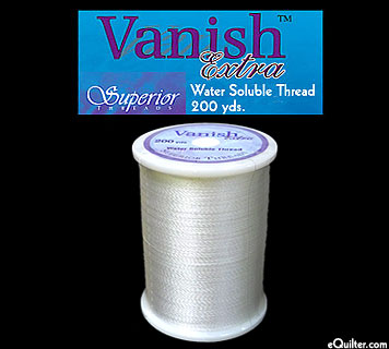 Vanish-Extra:  Water Soluble Thread - 200 yds