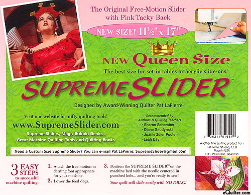 Supreme Slider - Teflon Free-Motion Quilting Sheet - Queen