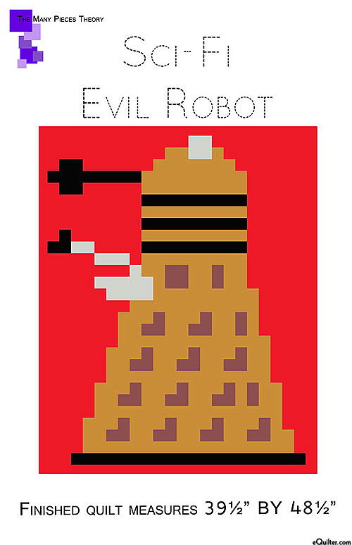 Sci-Fi Evil Robot - Quilt Pattern by Toni Smith