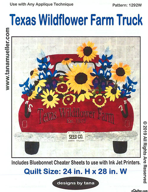 Texas Wildflower Farm Truck - Quilt Pattern by Designs by Tana