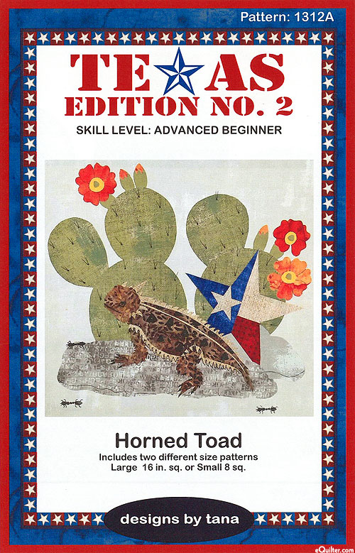 Horned Toad - Appliqué Pattern by Designs by Tana