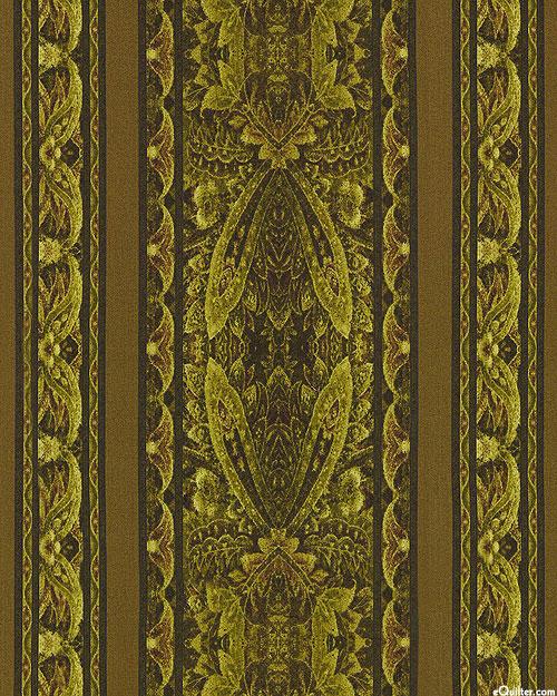 Chelsea - Lacewing Stripe - Dk Olive Green