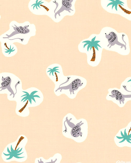 Steno Pool - Lions & Palm Trees - Natural