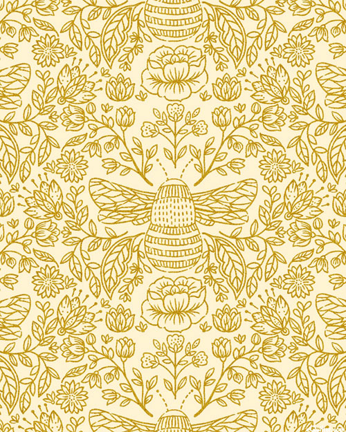 Summer In The Cotswolds - Bee's Knees - Cream/Gold
