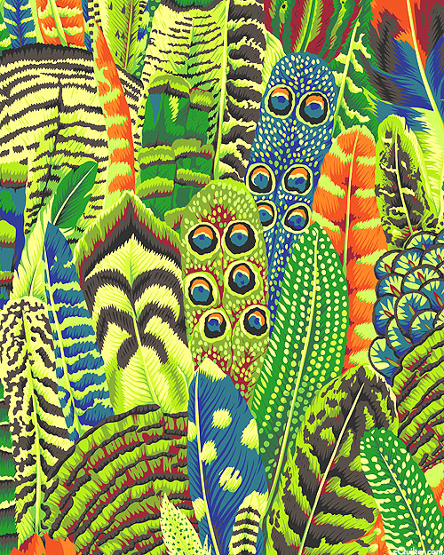 Kaffe Collective - Feathers - Lime Green
